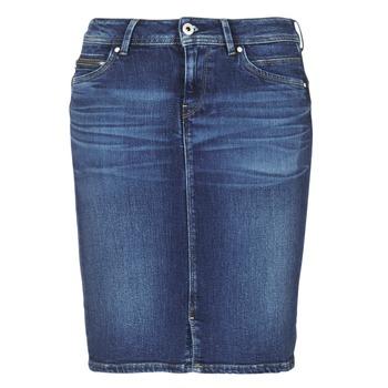 textil Mujer Faldas Pepe jeans TAYLOR Azul / Medium