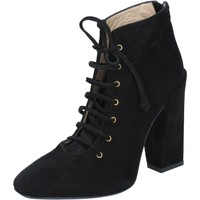 Zapatos Mujer Botines Gianni Marra botines negro gamuza BY757 negro