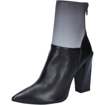 Zapatos Mujer Botines Gianni Marra botines negro cuero gris textil BY766 negro