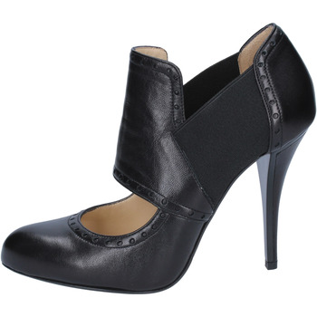 Zapatos Mujer Low boots Gianni Marra botines negro cuero textil BY794 negro