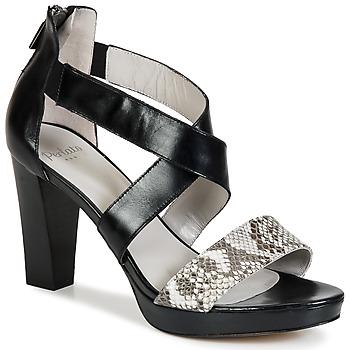 Zapatos Mujer Sandalias Perlato IREGUA Negro / Serpiente