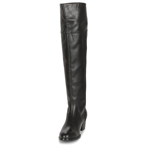 Mujer Negro Zapatos La Botas Rodilla Jichelieu A Size So SpUzVM