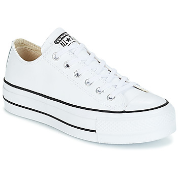 Zapatos Mujer Zapatillas bajas Converse CHUCK TAYLOR ALL STAR LIFT CLEAN OX LEATHER Blanco
