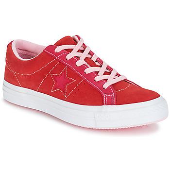 Zapatos Mujer Zapatillas bajas Converse ONE STAR OX Rojo / Rosa