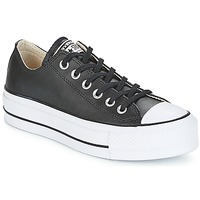Zapatos Mujer Zapatillas bajas Converse CHUCK TAYLOR ALL STAR LIFT CLEAN OX LEATHER Negro / Blanco