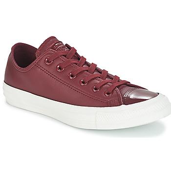 Zapatos Mujer Zapatillas bajas Converse CHUCK TAYLOR ALL STAR LEATHER OX Burdeo