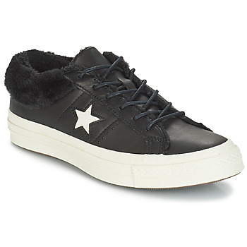 Zapatos Mujer Zapatillas bajas Converse ONE STAR LEATHER OX Negro