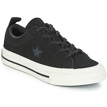 Zapatos Niños Zapatillas bajas Converse ONE STAR NUBUCK OX Negro / Blanco