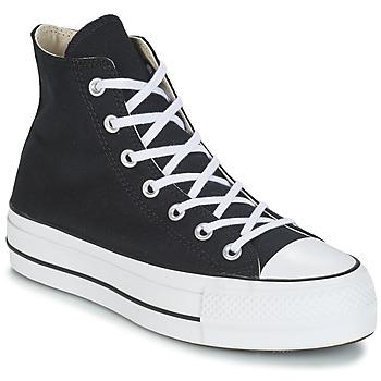 Zapatos Mujer Zapatillas altas Converse CHUCK TAYLOR ALL STAR LIFT CANVAS HI Negro