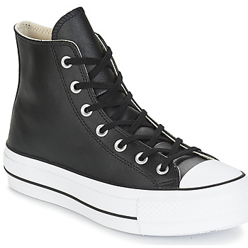Zapatos Mujer Zapatillas altas Converse CHUCK TAYLOR ALL STAR LIFT CLEAN LEATHER HI Negro