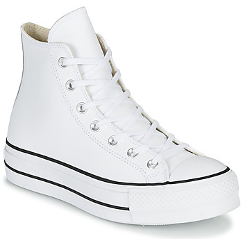 Zapatos Mujer Zapatillas altas Converse CHUCK TAYLOR ALL STAR LIFT CLEAN LEATHER HI Blanco