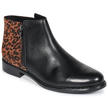 Zapatos Mujer Botas de caña baja Betty London JINANE Negro / Marrón