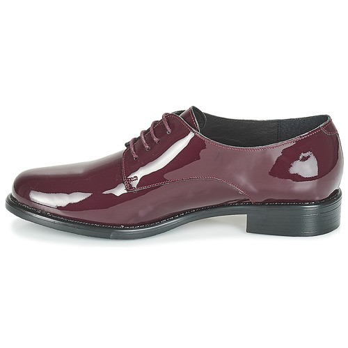 Betty Caxo London Burdeo Zapatos Derbie Mujer Yfbgv76y