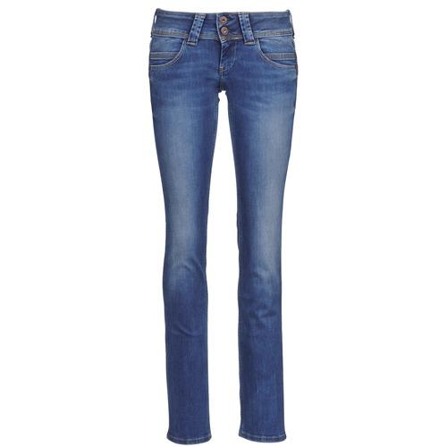 Pepe jeans VENUS Azul / Medium - Envío gratis | ! - textil vaqueros rectos Mujer