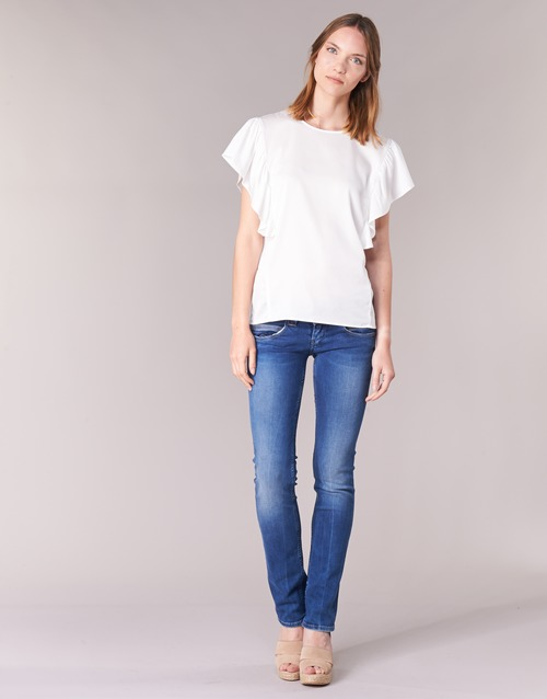 textil Mujer vaqueros rectos Pepe jeans VENUS Azul / Medium