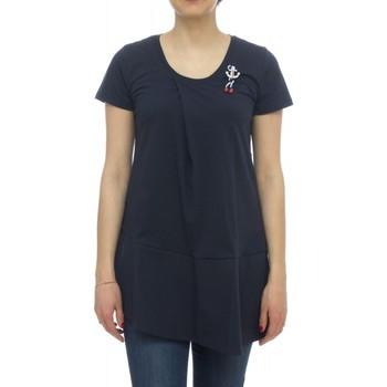 textil Mujer camisetas manga corta Kocca T-shirt RIVER Azul