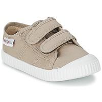 Zapatos Niños Zapatillas bajas Victoria BLUCHER LONA DOS VELCROS Beige