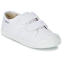 Zapatos Niños Zapatillas bajas Victoria BLUCHER LONA DOS VELCROS Blanco