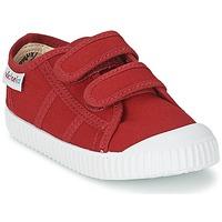 Zapatos Niños Zapatillas bajas Victoria BLUCHER LONA DOS VELCROS Carmín