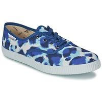 Zapatos Mujer Zapatillas bajas Victoria INGLESA ESTAMP HUELLA TIGRE Azul