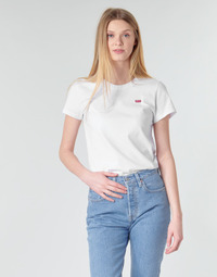 textil Mujer camisetas manga corta Levi's PERFECT TEE Blanco