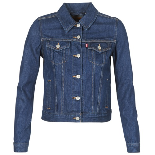 Levi's ORIGINAL TRUCKER Azul / Oscuro - Envío gratis | ! - textil chaquetas denim Mujer