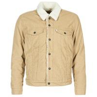 textil Hombre chaquetas denim Levi's TYPE 3 SHERPA TRUCKER Beige