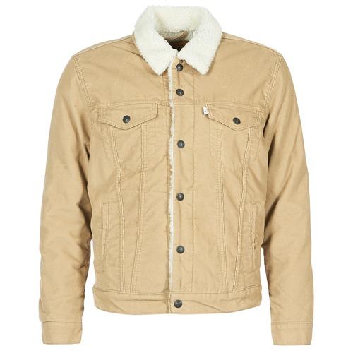 Levi's TYPE 3 SHERPA TRUCKER Beige - Envío gratis | ! - textil chaquetas denim Hombre