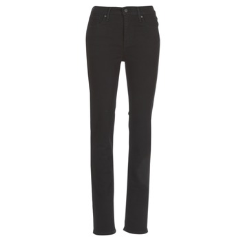 textil Mujer vaqueros rectos Levi's 724 HIGH RISE STRAIGHT Negro / Oveja