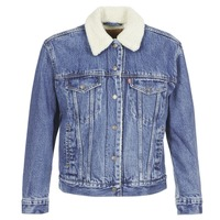 textil Mujer chaquetas denim Levi's EX-BF SHERPA TRUCKER Addicted / To / Amor