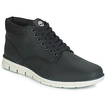 Zapatos Hombre Botas de caña baja Timberland BRADSTREET CHUKKA LEATHER Negro