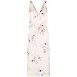 textil Mujer vestidos largos Anastasia - Vestido de noche de sat�n floral para mujer Beige