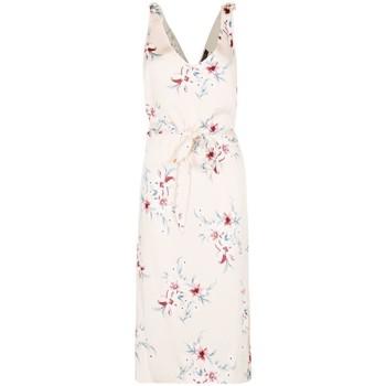 textil Mujer vestidos largos Anastasia Vestido de satén floral Beige