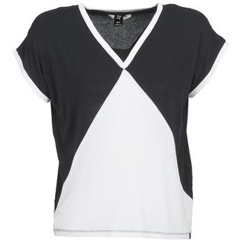 textil Mujer camisetas manga corta Nikita NEWSON Negro / Blanco