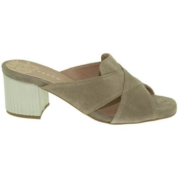 Zapatos Mujer Chanclas Pedro Miralles 18538 taupe taupe