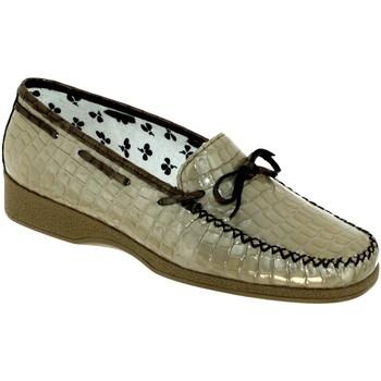 Zapatos Mujer Mocasín Marco NICE Beige barnizado