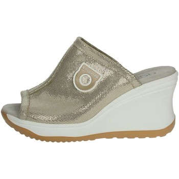 Zapatos Mujer Zuecos (Mules) Agile By Ruco Line Agile By Rucoline  196(7-A) Chancla Mujer Platino Platino