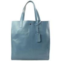 Bolsos Mujer Bolso Vera Pelle Shopper Bag Błękit Ciemny Azul
