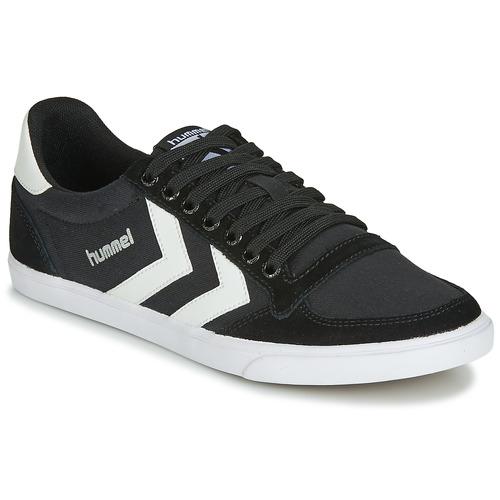 Zapatos Zapatillas altas Hummel TEN STAR LOW CANVAS Negro / Blanco