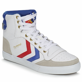 Zapatos Zapatillas altas Hummel STADIL HIGH Blanco / Azul / Rojo