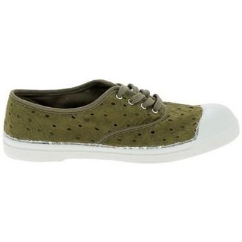Zapatos Mujer Tenis Bensimon Toile Lacet Kaki Verde