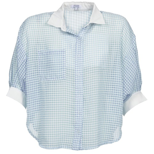 textil Mujer camisas Brigitte Bardot AMARANTE Azul / Blanco