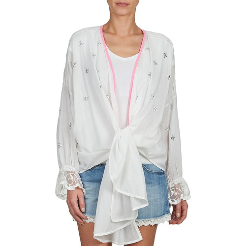 Blanco De Textil Chaquetas Brigitte Bardot Punto Mujer Apolline PkXiuOZ