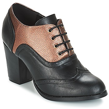Zapatos Mujer Low boots Moony Mood JOIRTUA Negro / Bronce