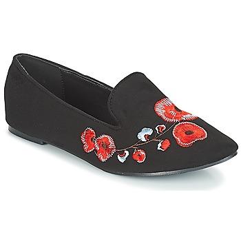 Zapatos Mujer Mocasín Moony Mood JASMINY Negro / Flor