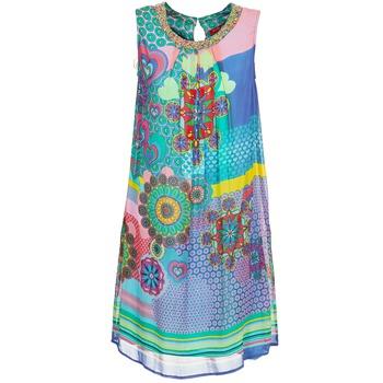 textil Mujer vestidos cortos Derhy BARDE Azul / Verde / Multicolor