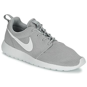 Nike Grises Con Blanco