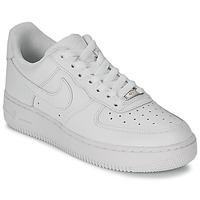 Zapatos Mujer Zapatillas bajas Nike AIR FORCE 1 07 LEATHER W Blanco