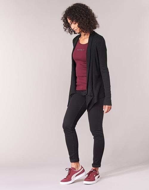 Punto Esprit Textil Chaquetas Negro Mujer De Vecky SzLMGVpqU