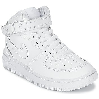 Zapatos Niño Zapatillas altas Nike AIR FORCE 1 MID Blanco